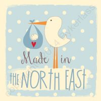 Made in The North East New Baby Boy Card