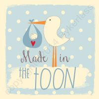 Made in The Toon New Baby Boy Card
