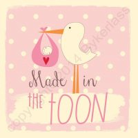 Made in The Toon New Baby Girl Card