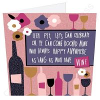 Celebrate with Wine Geordie Poetry Card