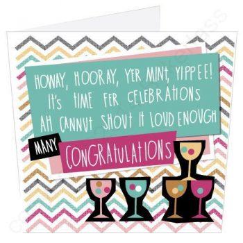 Congratulations Geordie Poetry Card
