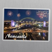 Tyne Bridge Fireworks Fridge Magnet