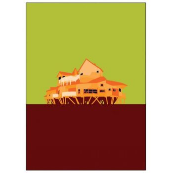 MyWorld Alnwick Tree House Pop Art Card