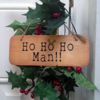 Geordie Christmas Sign - Ho Ho Ho Man!