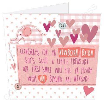 Geordie Poetry New Baby Card