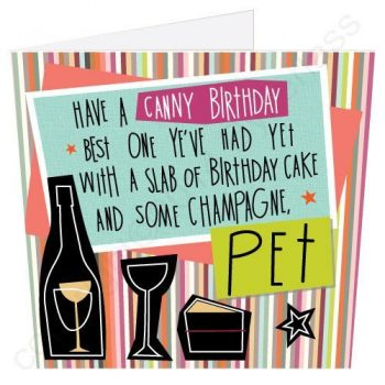 Geordie Poetry Birthday Card