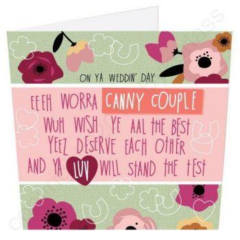 Geordie Poetry Wedding Card