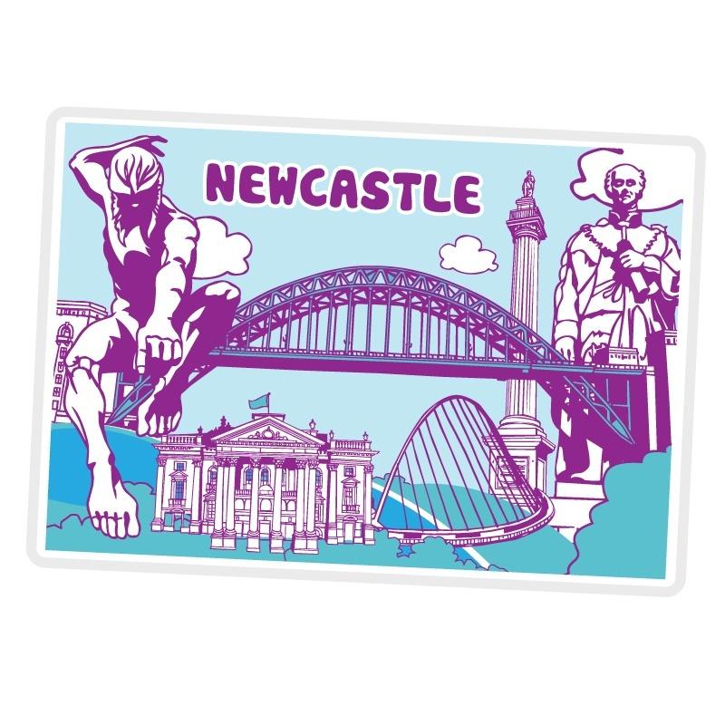Newcastle Icons Fridge Magnet