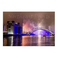 Newcastle Tyne Bridge and Quayside Fireworks