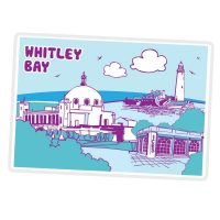 Whitley Bay Icons Magnet