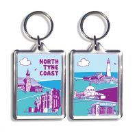 North Tyneside Coast Keyring