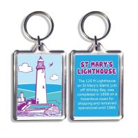 St Marys Lighthouse Whitley Bay Keyring