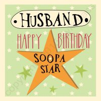 Happy Birthday Husband Geordie Card