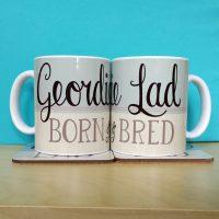Geordie Lad Born & Bred Mug
