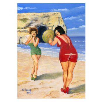 North East Saucy Seaside Postcard - Marsden Rock