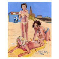 North East Saucy Seaside Postcard - Tynemouth Longsands