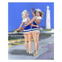 North East Saucy Seaside Postcard - St Mary's Lighthouse Whitley Bay