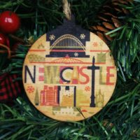Newcastle City Wooden Christmas Bauble