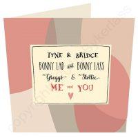 Geordie Valentines Card