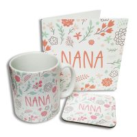 Nana Card Coaster Mug Set North East Gifts