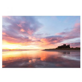 Photo Card Bamburgh Castle Sunrise