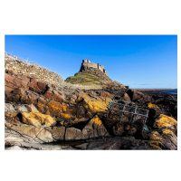 Rocks at Lindisfarne Castle Photo Card