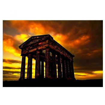 Photo Card Sunset at Penshaw Monument