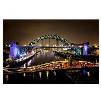 The River Tyne's Bridges Photo Card