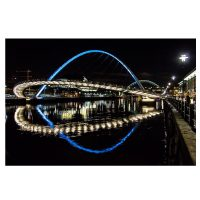 Reflections on the River Tyne Photo Card