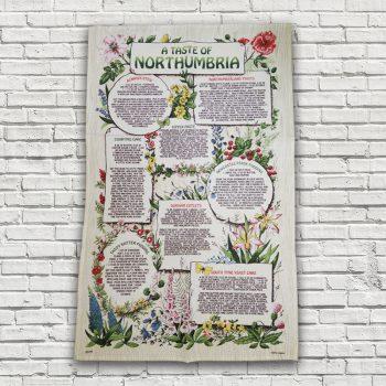 A Taste of Northumbria Recipes Tea Towel