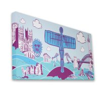 North East Icons Canvas