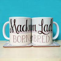 Mackem Lad Born & Bred Mug