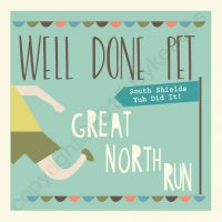 Great North Run Congratulations Card