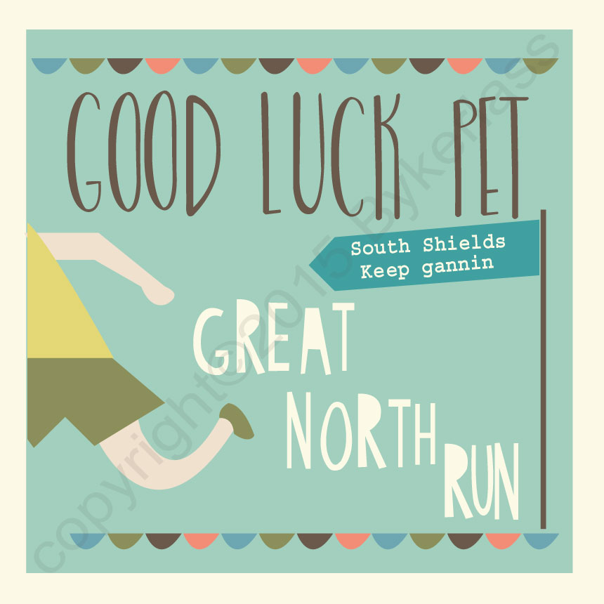 Great North Run Good Luck Card - North East Gifts