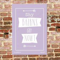 Shy Bairns Get Nowt Tea Towel - Heather