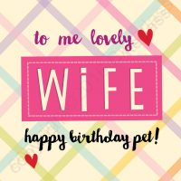 To Me Lovely Wife Happy Birthday Pet