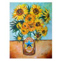 Jim Harker Brown Ale Sunflower Magnet