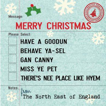North East Geordie Expats Christmas Card
