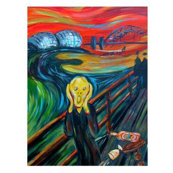 Geordie Scream Magnet Munch