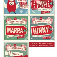Canny Christmas Vintage Cards