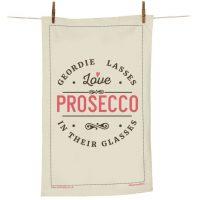 Geordie Lasses Prosecco Tea Towel