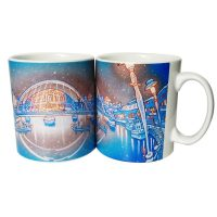 Tyne Bridges By Night Illustrated Mug