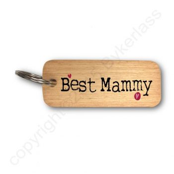 Best Mammy Wooden Keyring