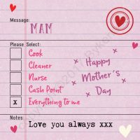 Mam Mother's Day Options Card