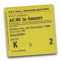Newcastle City Hall Ticket Magnet - AC/DC