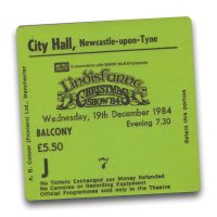 Newcastle City Hall Ticket Magnet - Lindisfarne