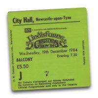 Newcastle City Hall Ticket Magnet - Lindisfarne