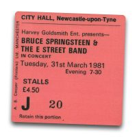 Newcastle City Hall Ticket Magnet - Bruce Springsteen