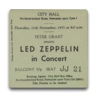 Newcastle City Hall Ticket Magnet - Led Zeppelin