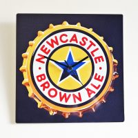 Newcastle Brown Ale Metal Wall Clock